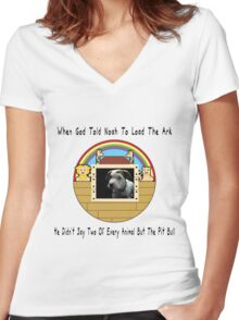 But The Pit Bull Women's Fitted V-Neck T-Shirt