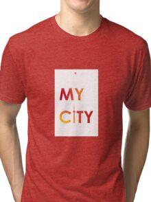 My City - Toronto - RedYellowB Tri-blend T-Shirt