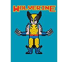 8Bit Wolverine Photographic Print
