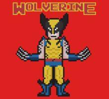 8Bit Wolverine Baby Tee