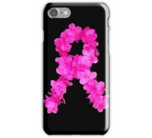 Azalea Flower Arrangement Photo Breast Cancer Awareness Ribbon iPhone Case/Skin