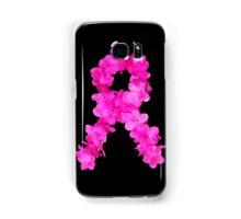 Azalea Flower Arrangement Photo Breast Cancer Awareness Ribbon Samsung Galaxy Case/Skin