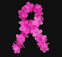 Azalea Flower Arrangement Photo Breast Cancer Awareness Ribbon T-Shirt