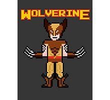 8Bit Wolverine (Brown) Photographic Print