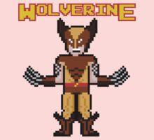 8Bit Wolverine (Brown) One Piece - Long Sleeve