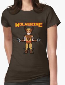 8Bit Wolverine (Brown) Womens Fitted T-Shirt