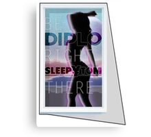 Diplo & Sleepy Tom - Be Right There Canvas Print