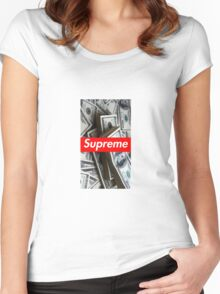 Money/Supreme Women's Fitted Scoop T-Shirt