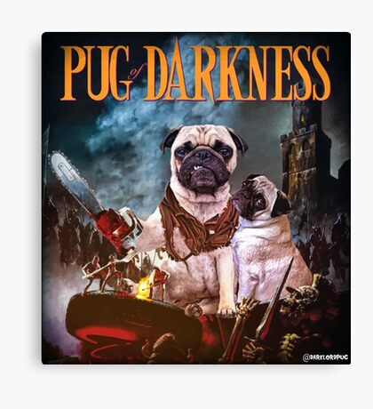 Pug of Darkness Canvas Print