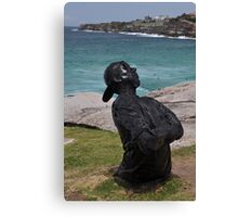 Youth  With Attitude,Sculptures By Sea,Australia 2015 Canvas Print