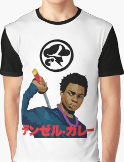 Denzel Black Samuri Curry Graphic T-Shirt