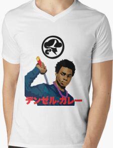 Denzel Black Samuri Curry Mens V-Neck T-Shirt