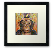 Intuition (The chimpanzee and the canary) Framed Print