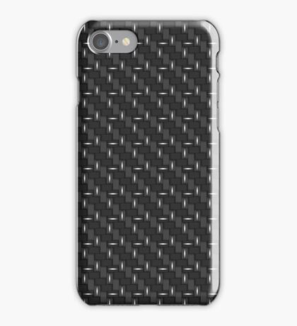 Carbon fibre - silver wire reinforcing iPhone Case/Skin