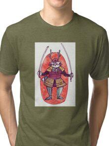 Rail the Samurai Cat Tri-blend T-Shirt