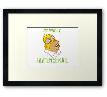 POSSIBLE HOMERSEXUAL (no hands) Framed Print