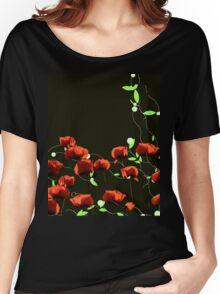 poppy art work Women's Relaxed Fit T-Shirt