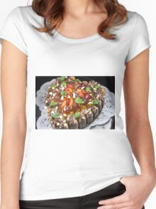 Opus of Love, Chocolate And Fruits Women's Fitted Scoop T-Shirt