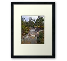Creek, Rossarden, Tasmania, Australia Framed Print