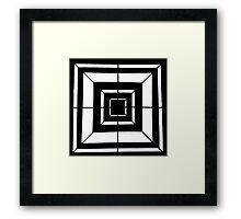 Square Bulls-eye  Framed Print