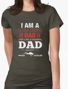 Scuba Diving Dad Womens Fitted T-Shirt