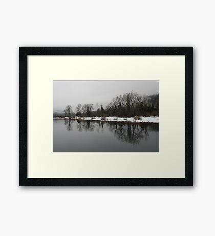 Winter On The River Framed Print