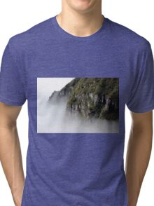 Cloudy Valley Mountain Forest Nature Fine Art Photography 0046 Tri-blend T-Shirt