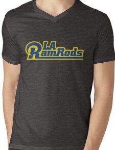 LA Ram Rods Podcast Modern Logo - Classic Blue Mens V-Neck T-Shirt