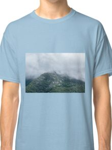Cloudy Foggy Mountain Forest Nature Fine Art Photography 0048 Classic T-Shirt