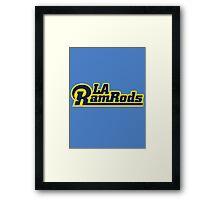LA Ram Rods Podcast Modern Logo - Modern Blue Framed Print