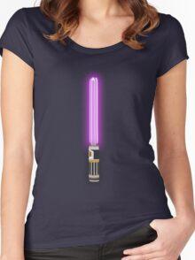 Star Wars - Mace Windu's Light 'Saver' Women's Fitted Scoop T-Shirt