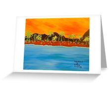 Calm Beach Greeting Card