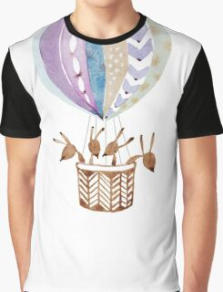 Bunny's adventure in hot air balloon Graphic T-Shirt