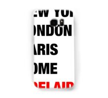 NY London Paris Adelaide (Black) Samsung Galaxy Case/Skin