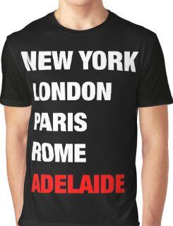 NY London Paris Adelaide (White) Graphic T-Shirt