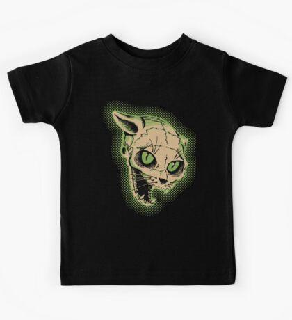 Vintage Cat Skull Illustration Kids Tee