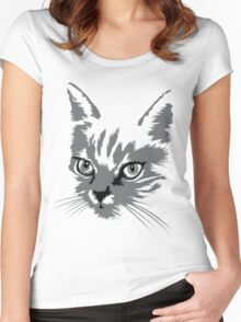 Cats Are Like Music Women's Fitted Scoop T-Shirt