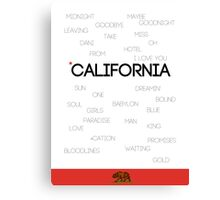 California ♪ Canvas Print