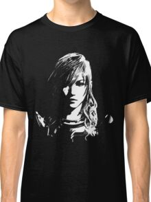 Final Fantasy XIII Lightning - Black and White Classic T-Shirt