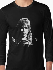 Final Fantasy XIII Lightning - Black and White Long Sleeve T-Shirt