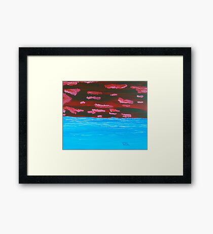 Red Clouds Framed Print