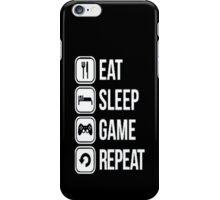 Gamer design:Eat, sleep, game, rapeat iPhone Case/Skin