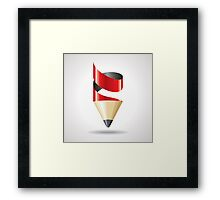 creative pencil Framed Print