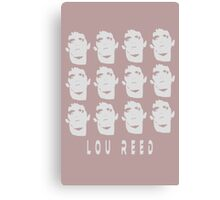 Lou Reed collage punk retro funny nerd geek geeky Canvas Print