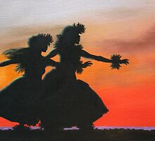Dancers at Sunset by WahineArt
