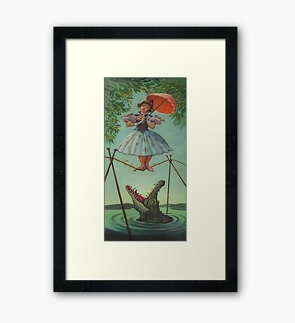 Haunted mansion umbrela  Framed Print