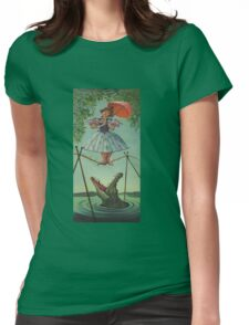 Haunted mansion umbrela  Womens Fitted T-Shirt