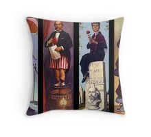 All characther haunted mansion Throw Pillow