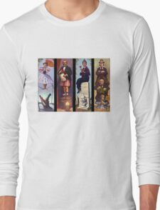 All characther haunted mansion Long Sleeve T-Shirt