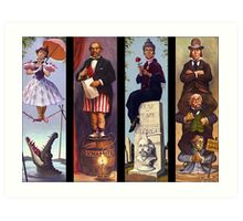 All characther haunted mansion Art Print